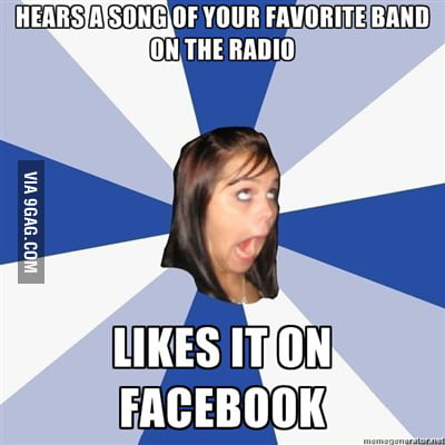 Annoying facebook girl strikes again