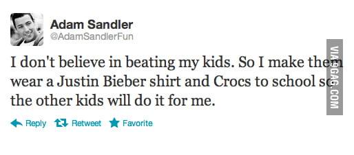 Adam Sandler Doesn't Beat His Kids