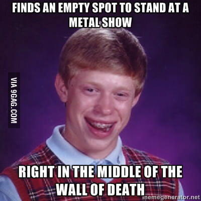 Bad Luck Brian gets STRUCK again