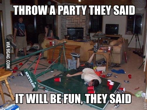 Throw a party, they said!