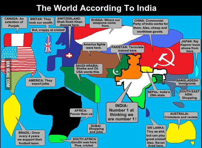 World.. according to Indians
