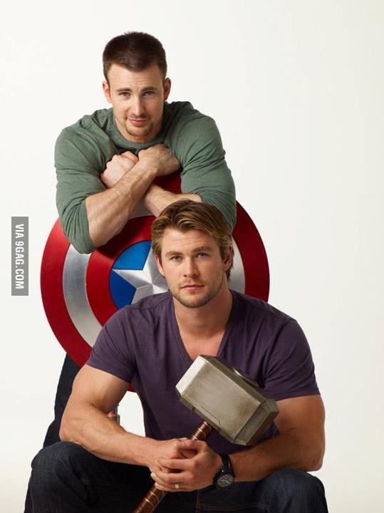 Thor and Captain America before it was cool