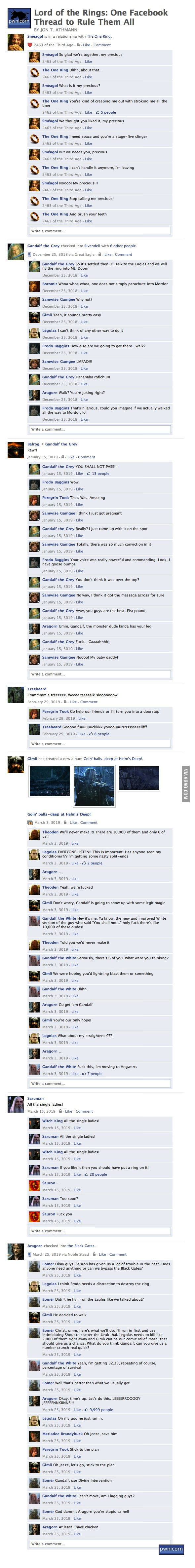 One facebook to rule them all...