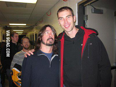 Just Dave Grohl with Zdeno Chara