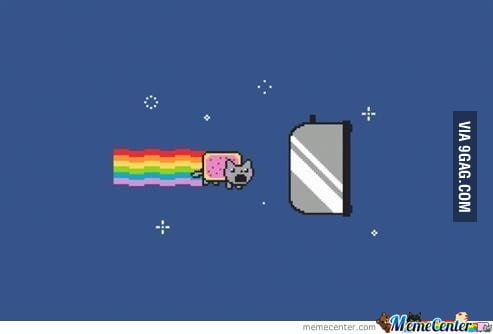 The end of  Nyan Cat's Adventures