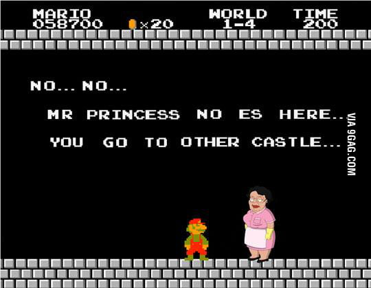 Noo. Mr. Princess no es here