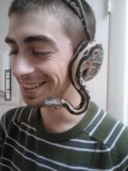Headsnake, because headphones are too mainstream!