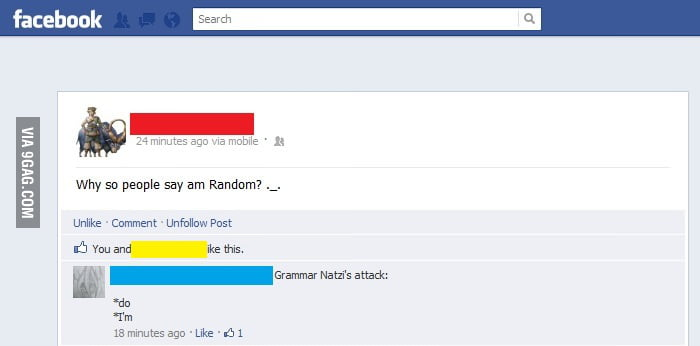 Grammar Nazi Strikes Again