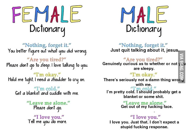 Having Fun Quotes Tumblr: Female And Male Dictionary