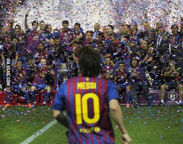 Photobomb level: FC Barcelona Players