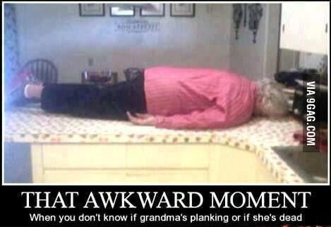 Is she planking?