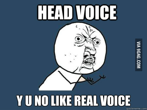 Whenever I record myself singing