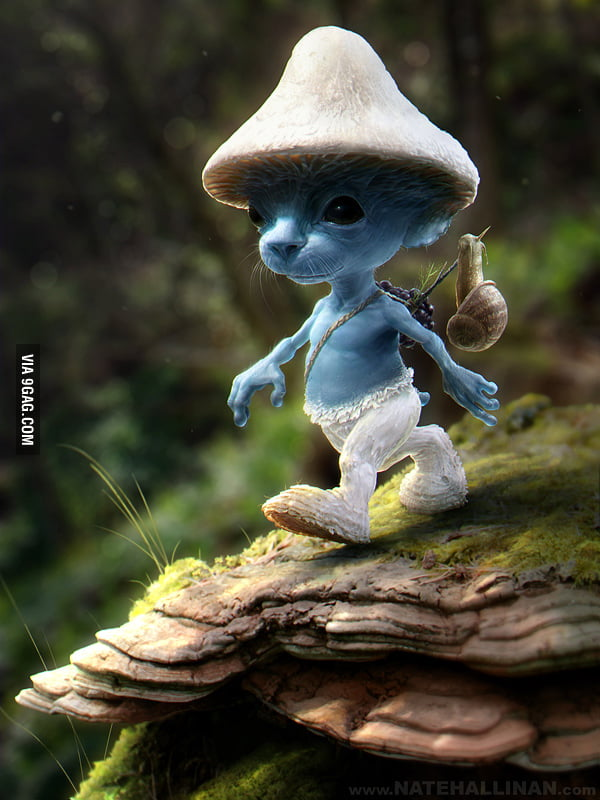 Real Smurfs would be creepy!