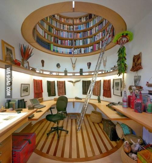 Bookcase in the Ceiling...