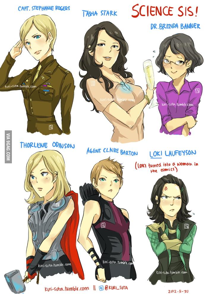 So I drew genderbends of The Avengers, seems legit...