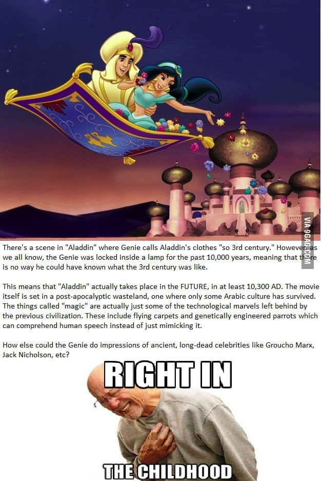 Aladdin - right in the childhood