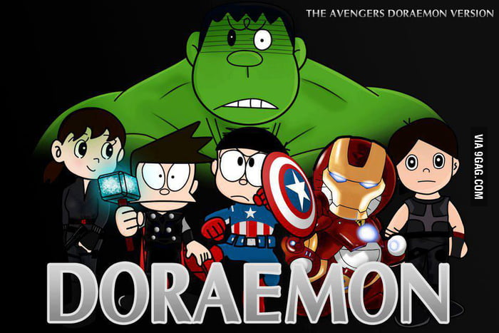 The Avengers Doraemon version