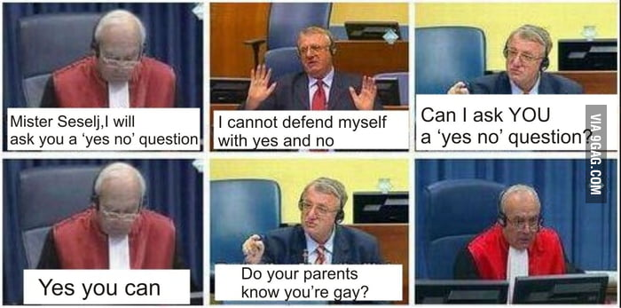 Just a Serbian politician in court. True story.