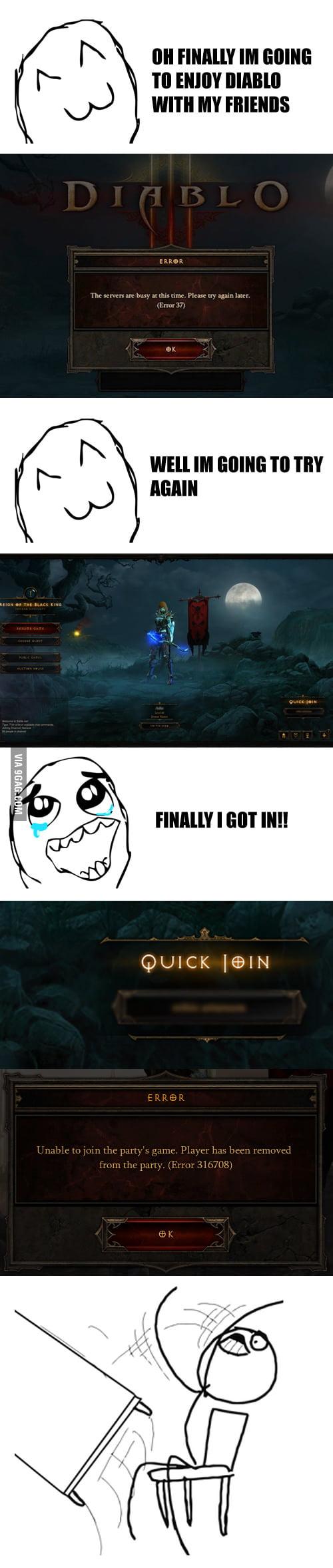 New Diablo Error..