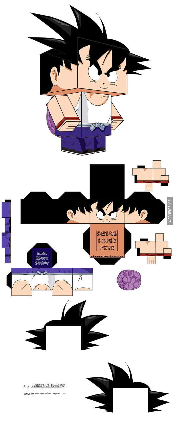 Make your cute paper Goku!