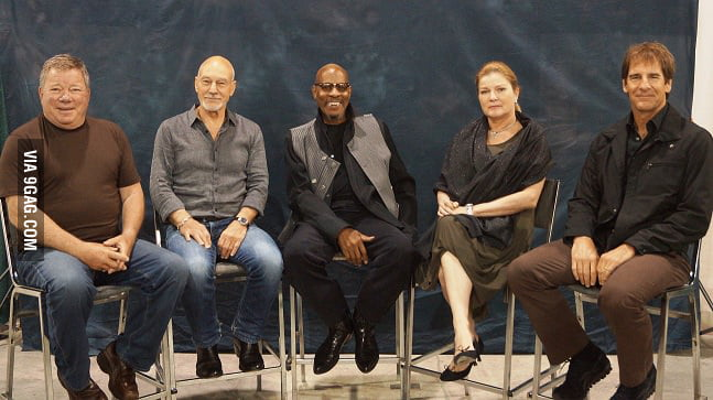 All 5 TV Star Trek Captains together for the first time