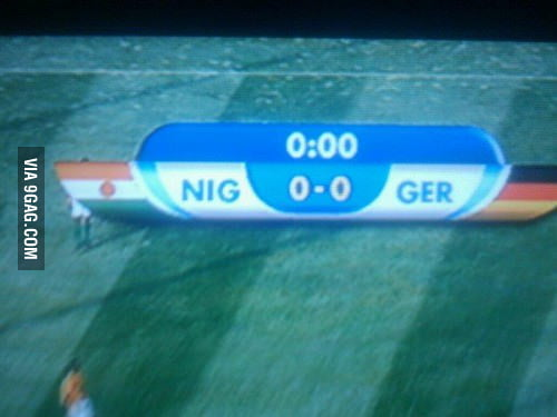 When Nigeria plays against Germany