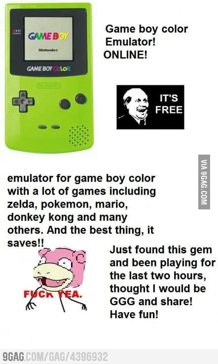 Game Boy Color Online Emulator FIX - 9GAG