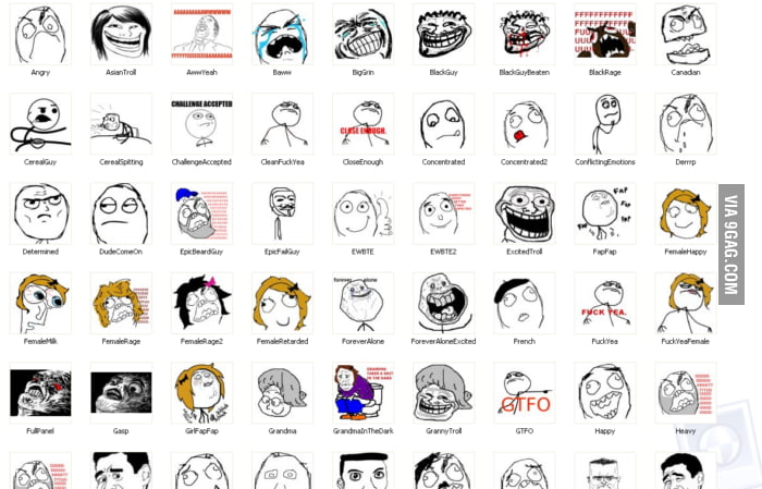 List Of Meme Faces