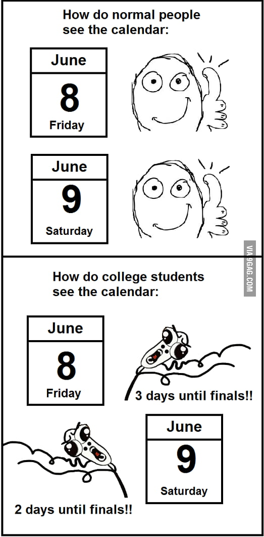 College students calendar