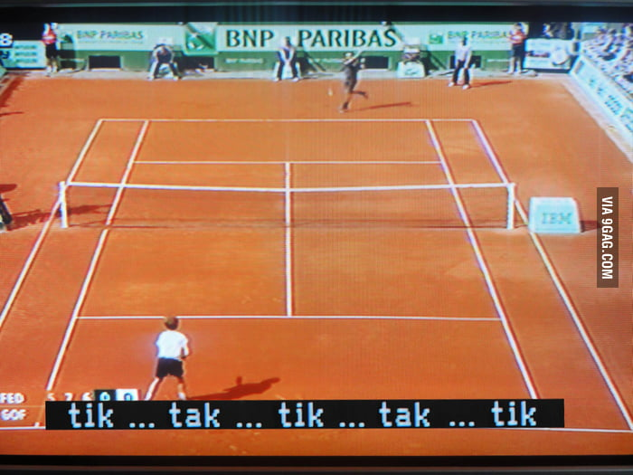 Just turned on the subs during a tennis match