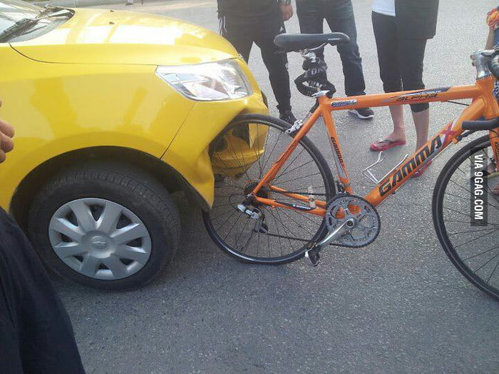 Car Vs. Bike = Bike Wins!