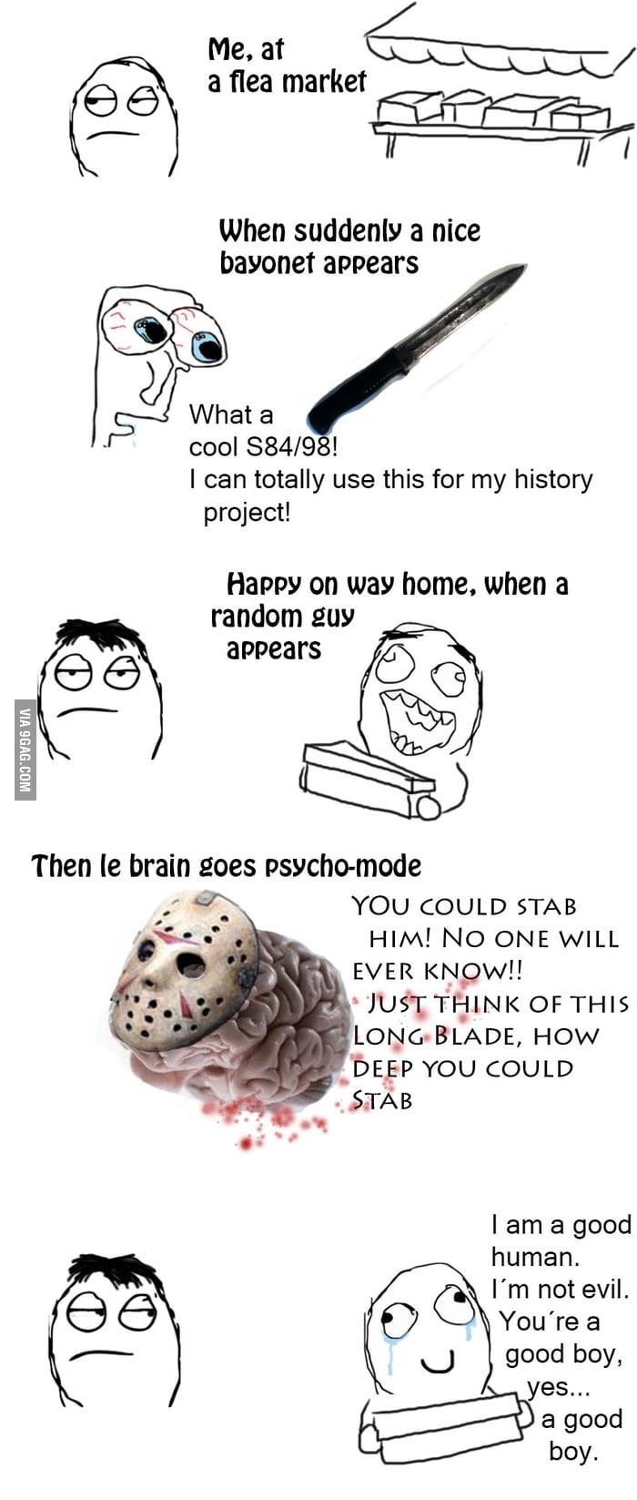 Scumbag Brain goes psycho