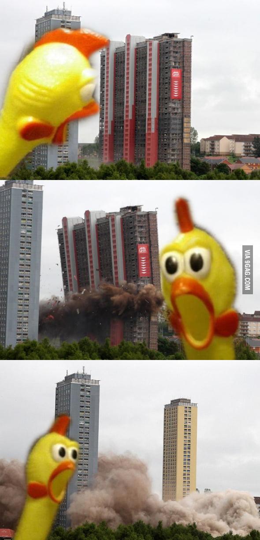 Dramatic Chicken strikes again