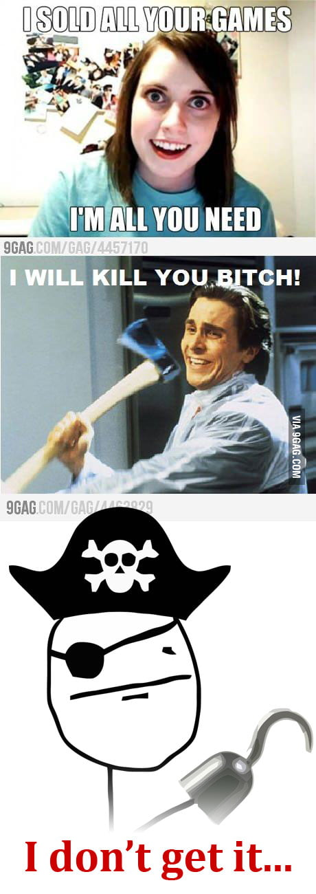 How a pirate looks on the whole situation