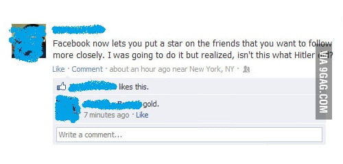 Star a friend on Facebook