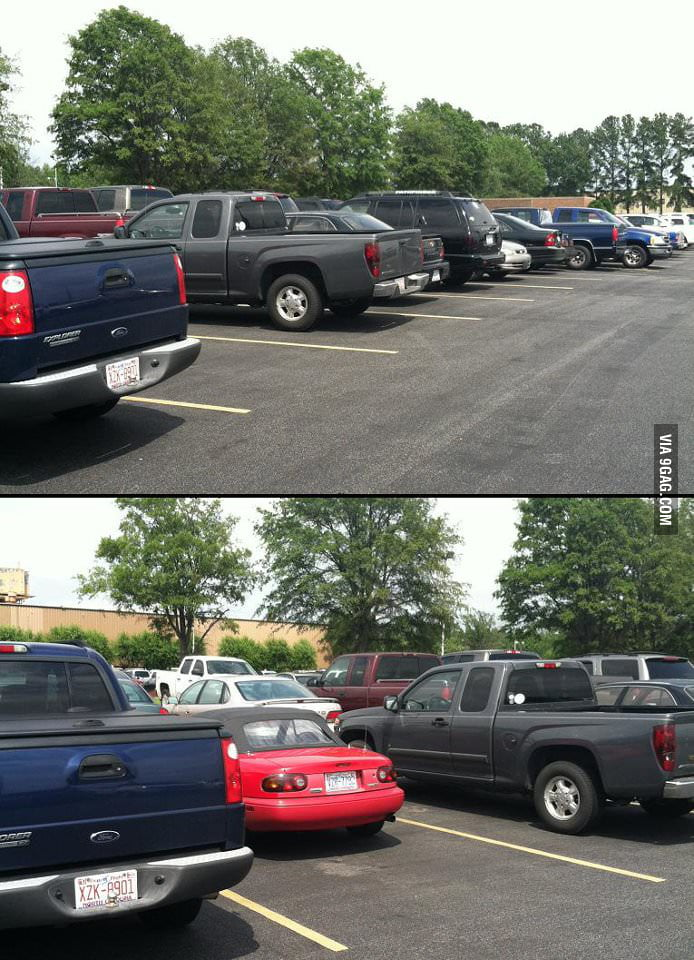I hate those small cars in car park!