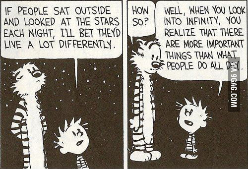 If people sat outside and looked at the stars...