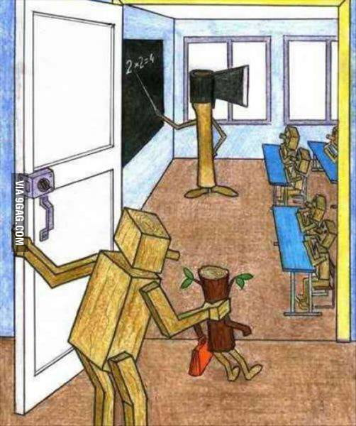 How school really looks like...