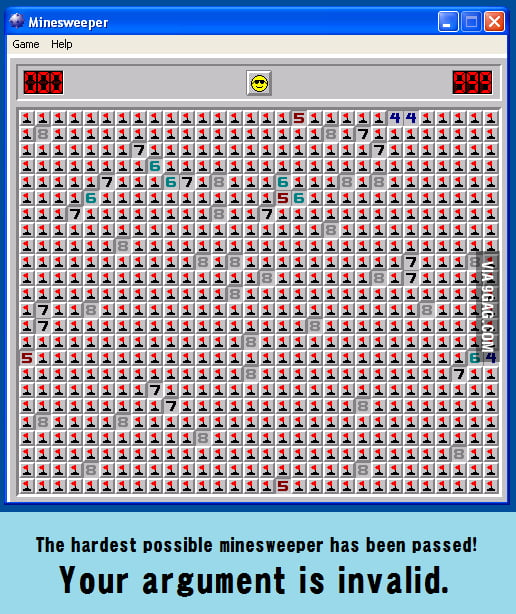 Minesweeper level: beyond Asian.