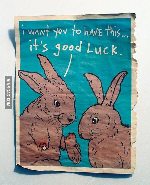 It's good luck.
