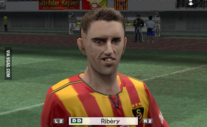 Ribery in PES 5 - 9GAG