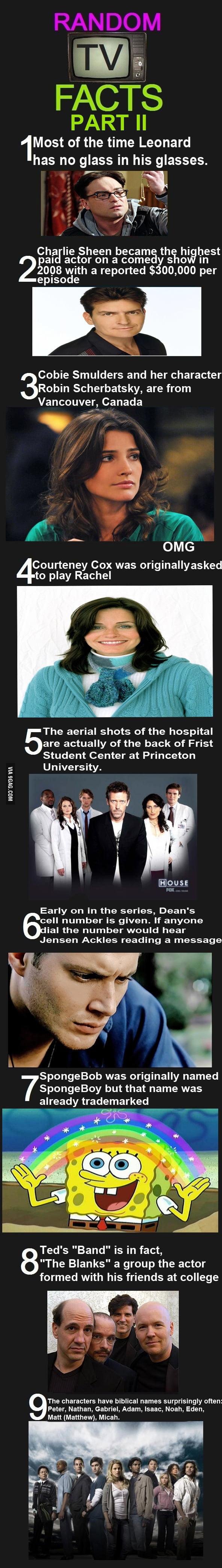 Random TV Facts (Part II)