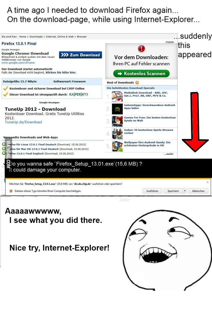Aaw Internet-Explorer so silly