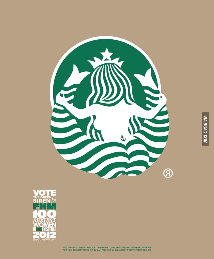 Starbucks logo from the back...