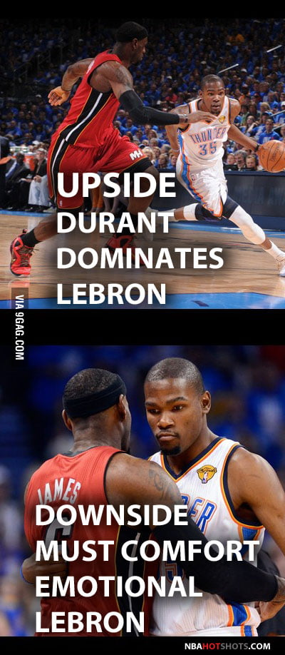 [Memes] Kevin Durant Make LeBron James Cry! - 9GAG