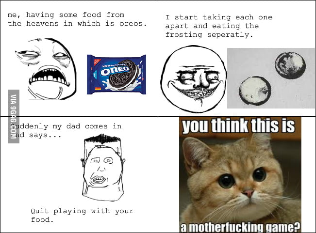 "Dad Always Said This When I 'Played"" With Oreos"