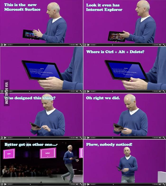 Microsoft Surface Presentation vs Internet Explorer (13:36)