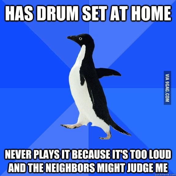 Socially Awkward Drummer
