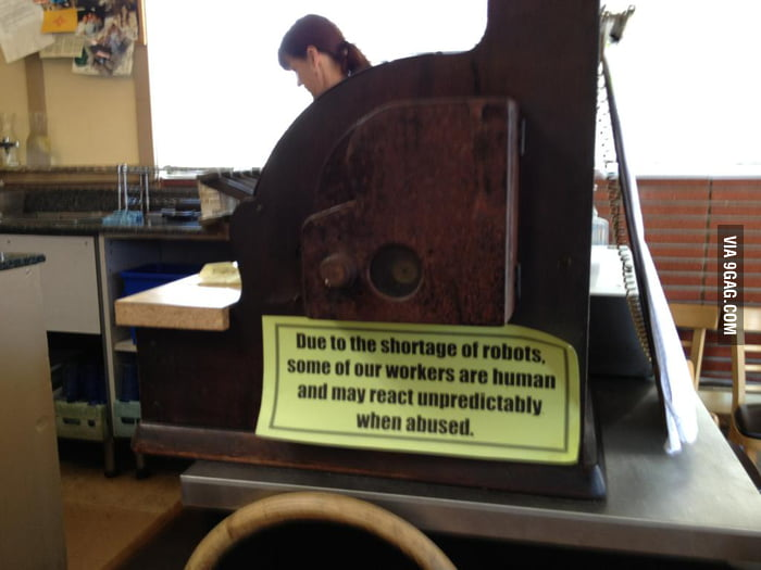 Saw this in a restaurant. Best Sign Ever.