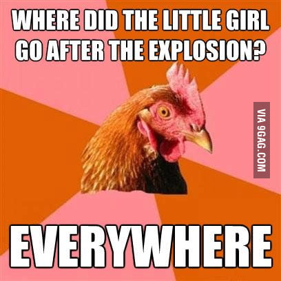 Where did the little girl go after the explosion?